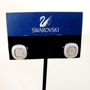 NWT! Swarovski Earrings Pave Rhinestones